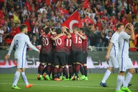 An early double from Cenk Tosun gave Turkey its first-ever home win over Finland in Turkey's Antalya province and took them to third place in World Cup qualifying Group I with eight points, two...