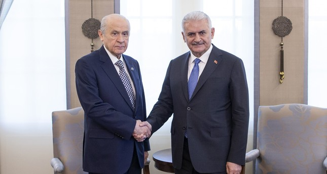 انتهاء اجتماع بين يلدريم وزعيم حزب الحركة القومية في أنقرة