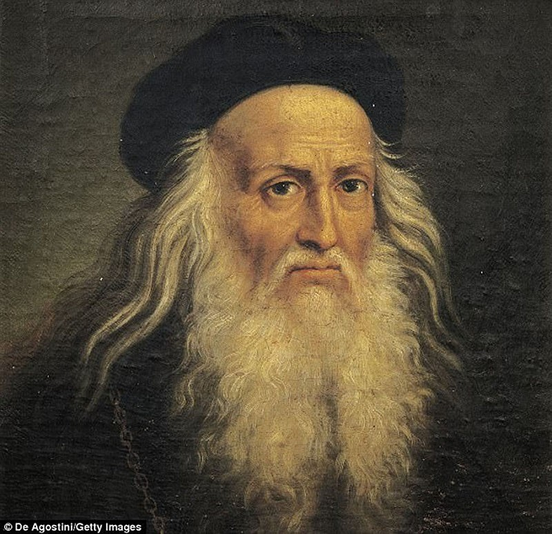 Portrait of Leonardo Da Vinci by Lattanzio Querena