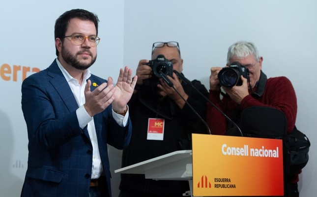 Vice-President of Catalan Government and Esquerra Republicana de Catalunya - ERC Republican Left of Catalonia member Pere Aragones attends a ERC's national committee meeting in Barcelona on January 2, 2020. AFP Photo