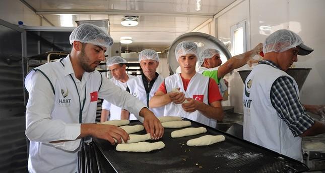 مخبز تركي يرسل يومياً 10 آلاف رغيف خبز إلى جرابلس السورية