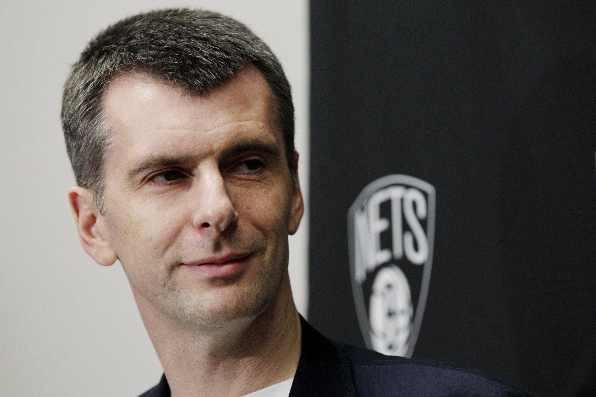 Brooklyn Nets owner Mikhail Prokhorov. (FILE Photo)