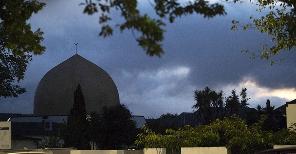Al Noor mosque is shaded by clouds in Christchurch, New Zealand, Tuesday, March 19, 2019. (AP Photo)