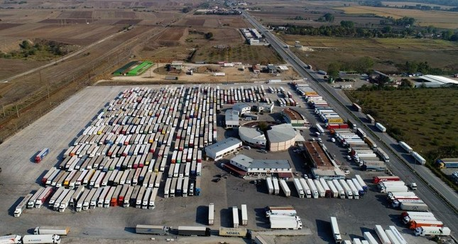 Kap?kule Customs and Border Gate, Turkey's main gateway overland into Europe, is seen in this file photo dated Oct. 25, 2019. (AA Photo)