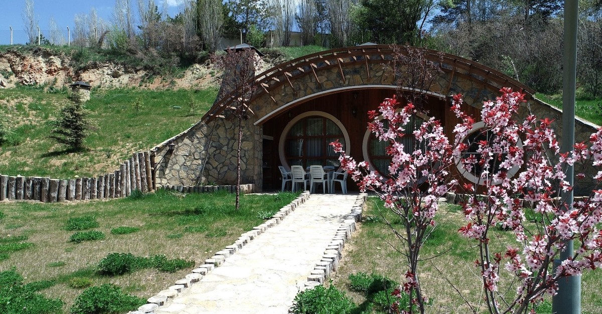 Hobbit houses offer a cozy stay for visitors in Sivas.