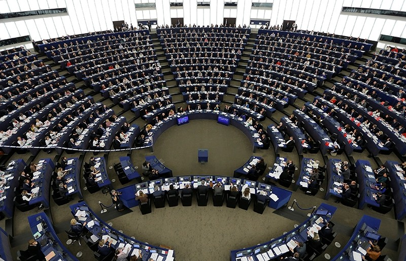 Members of the European Parliament take part in a voting session on the Comprehensive Economic Trade Agreement (CETA) between the EU and Canada (Reuters Photo)