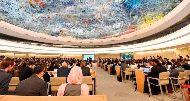 مجلس حقوق الإنسان التابع للأمم المتحدة في إحدى جلساته في جنيف (الفرنسية)