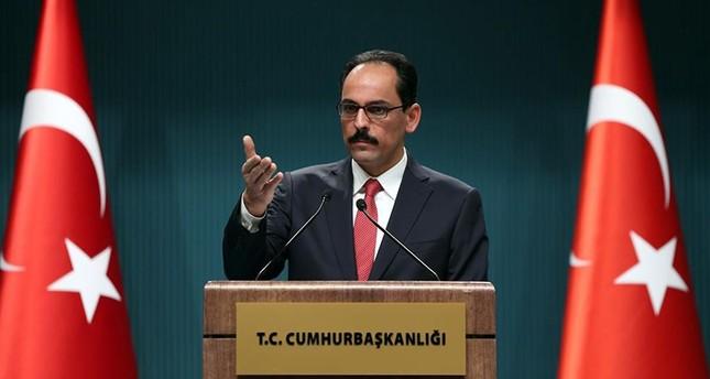 Alleged Assad-YPG deal propaganda, Kalın says