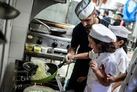 Gazan children who are interested in cooking, both learn how to cook while enjoying their time and have an opportunity to get off blockade conditions to some extent thanks to free-workshop...