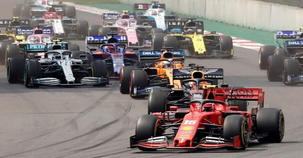 Drivers in action during the race at Mexican Grand Prix, Hermanos Rodriguez Circuit in Mexico City, Mexico, Oct. 27, 2019. (Reuters Photo)