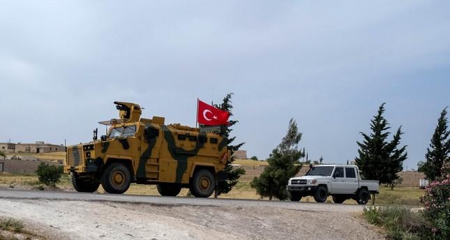 عربة دورية تابعة للجيش التركي في منطقة خفض التوتر شمال سوريا (من الأرشيف)
