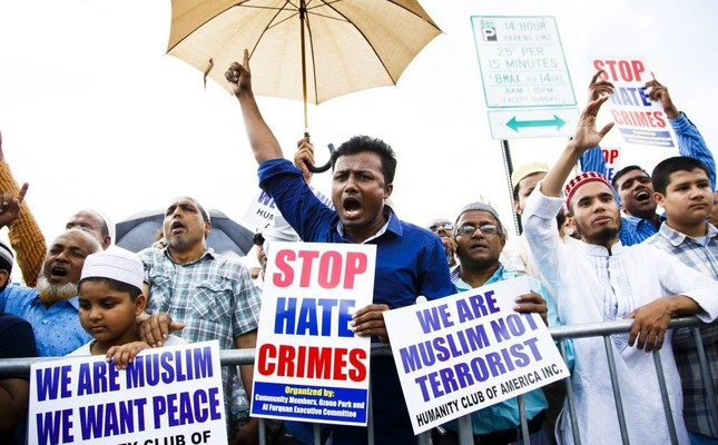 Anxious New York Muslims demand justice for murdered imam