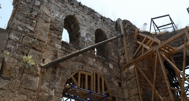 Mosque, symbol of Antalya's conquest, being restored