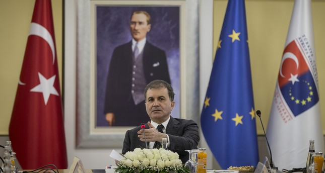 Ömer Çelik receives the representatives of the EU Reflection Group in Ankara on Jan. 11, 2018. (AA Photo)