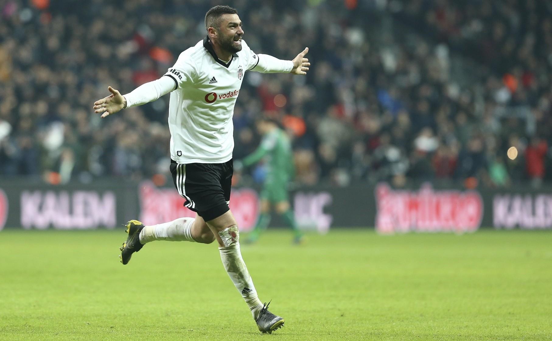 Yu0131lmaz, who joined Beu015fiktau015f in the  January transfer window, scored his first goal for the team against Bursaspor.