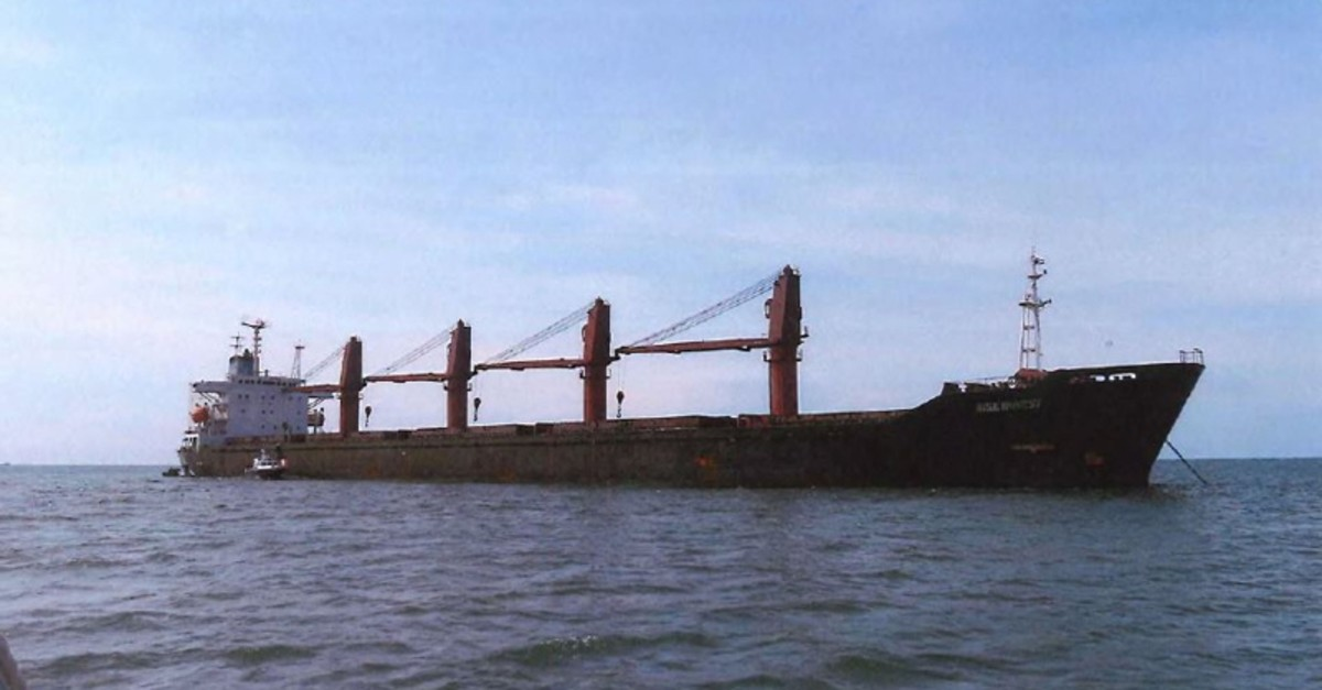 This undated image released by the US Attorney's Office for the Southern District of New York, shows the cargo vessel ,Wise Honest., (AFP Photo)