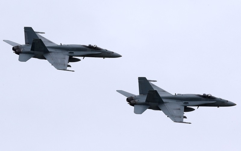 F-18 Hornet jet fighters. (EPA Photo)