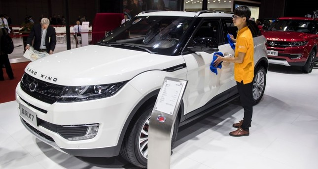 A X7 car by Chinese carmaker Land Wind pictured during the media day of the 17th Shanghai  International Automobile Industry Exhibition in Shanghai.