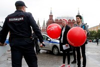 Dozens of Russian opposition supporters detained