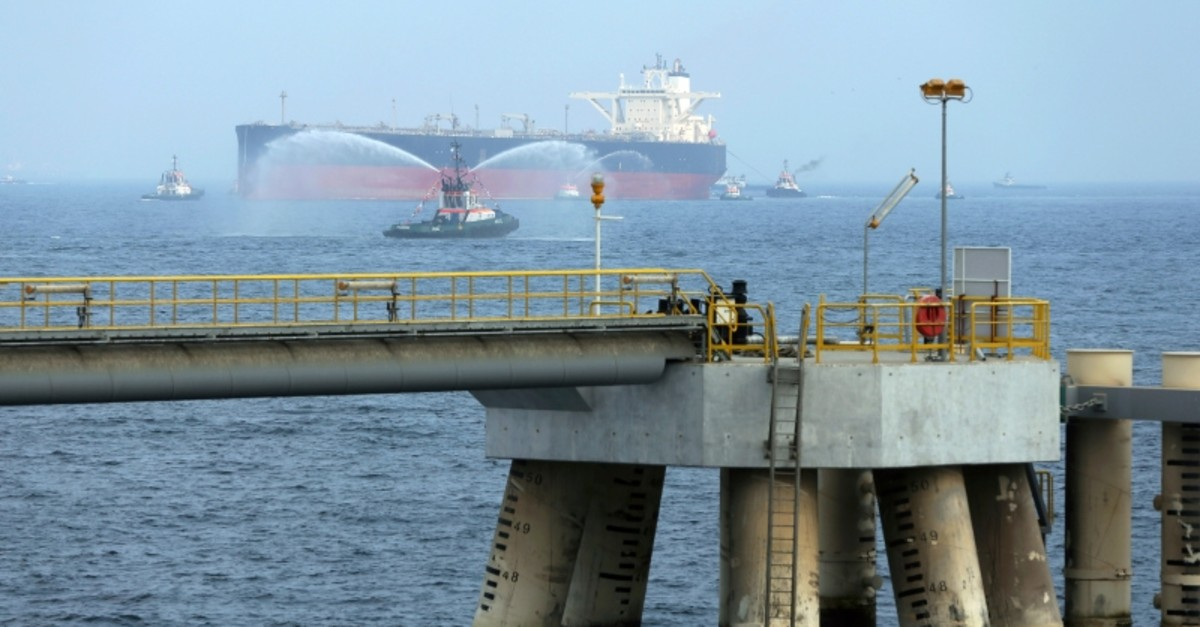 In this Sept. 21, 2016 file photo, an oil tanker approaches to the new Jetty during the launch of the new $650 million oil facility in Fujairah, United Arab Emirates. (AP Photo)