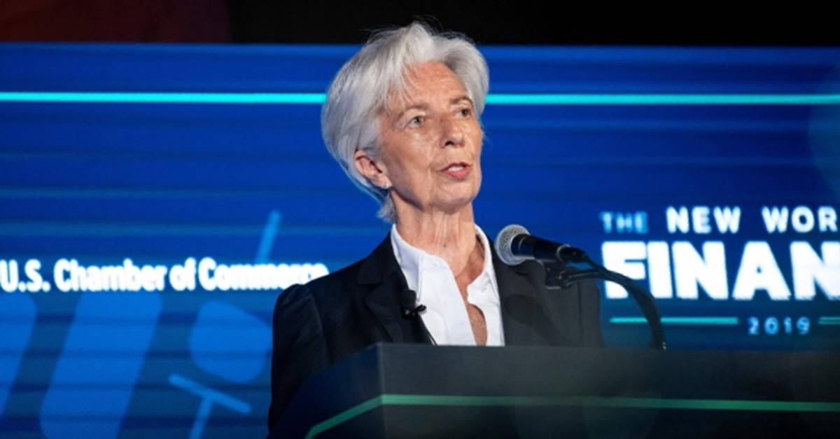 International Monetary Fund (IMF) Managing Director Christine Lagarde speaks at the US Chamber of Commerce April 2, 2019, in Washington, DC. (AFP Photo)