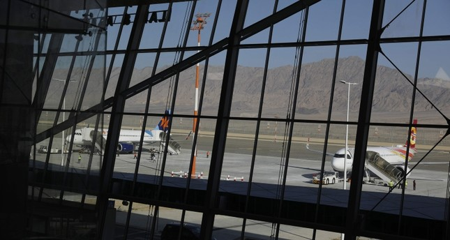 Planes are reflected in the facade of the Ramon International Airport after an inauguration ceremony for the new airport, just outside the southern Red Sea resort city of Eilat, Israel January 21, 2019. Reuters Photo