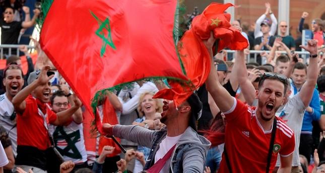 مشجعو الفريق المغربي إلى روسيا 2018 الفرنسية