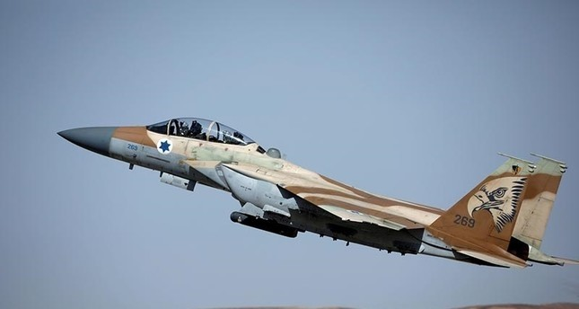 An Israeli F-15 fighter jet takes off during an exercise at Ovda Military Airbase in southern Israel in this file photo from 16 May 2017 (Reuters Photo)