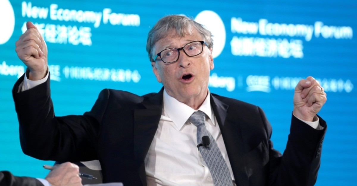 Bill Gates, Co-Chair of Bill & Melinda Gates Foundation, attends a conversation at the 2019 New Economy Forum in Beijing, China Nov. 21, 2019. (Reuters File Photo)