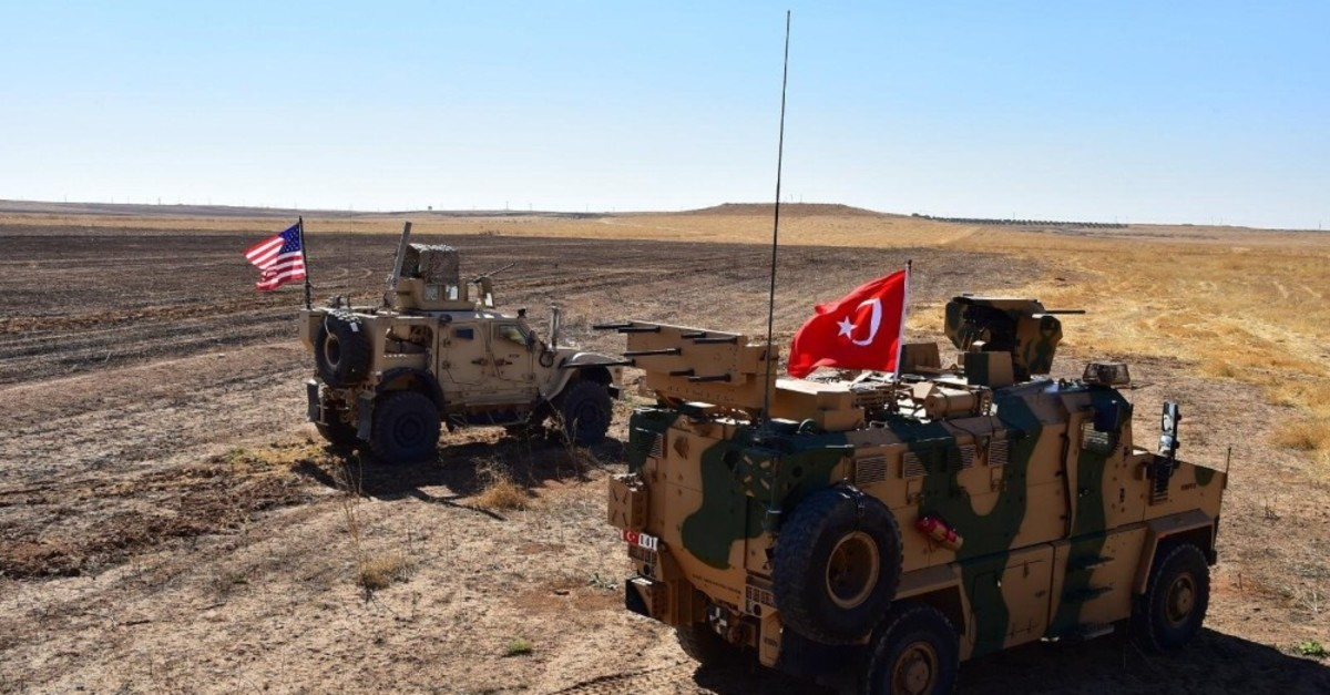 The first joint patrol of Turkish Armed Forces and U.S. personnel conducted in eastern Syria, Sept. 8.