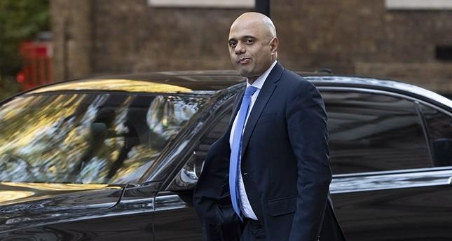 British Home Secretary, Sajid Javid arrives in Downing street in London, Britain, Oct. 22, 2018. (EPA Photo)