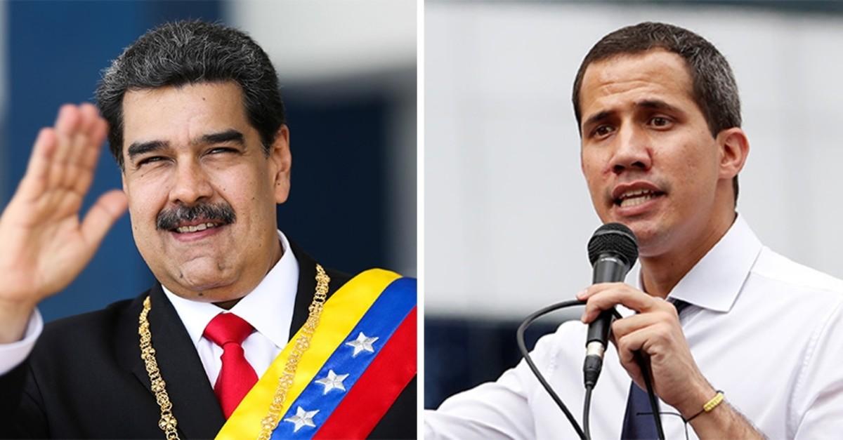 Photo compilation of Venezuelan President Nicolas Maduro (L) and opposition leader Juan Guaido. (Reuters Photo)