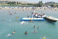 Lake Van's second public beach welcomes swimmers