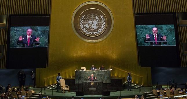 أردوغان يشارك في الدورة الـ71 للجمعية العامة للأمم المتحدة