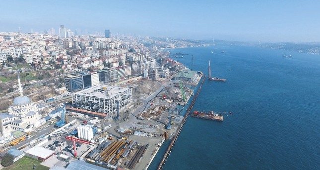 Almost 4.5 billion Turkish liras will be invested in the Galataport Project, located in the area that connects Karaköy and Tophane, two Istanbul districts of historical value. (DHA Photo)