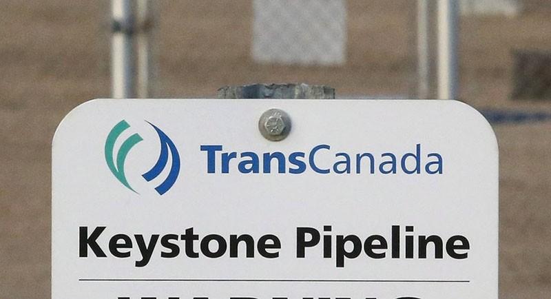his Nov. 6, 2015, file photo shows a sign for TransCanada's Keystone pipeline facilities in Hardisty, Alberta, Canada. (AP Photo)