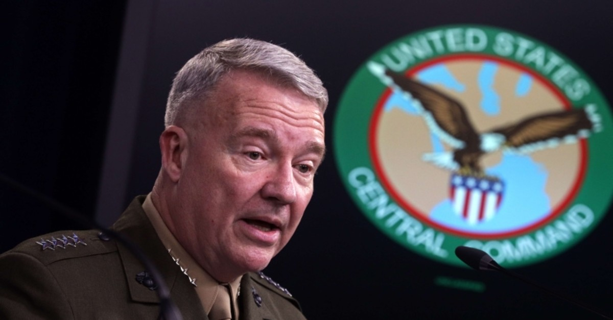 U.S. Marine Corps Gen. Kenneth McKenzie, commander of U.S. Central Command, participates in a press briefing October 30, 2019 at the Pentagon in Arlington, Virginia. (AFP Photo)