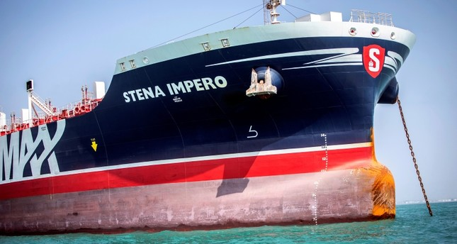 Stena Impero, a British-flagged vessel owned by Stena Bulk, is seen at undisclosed place off the coast of Bandar Abbas, Iran Aug. 22, 2019. Reuters Photo