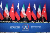 Tehran summit says there can be no military solution in Syria, calls for 'negotiated political process'