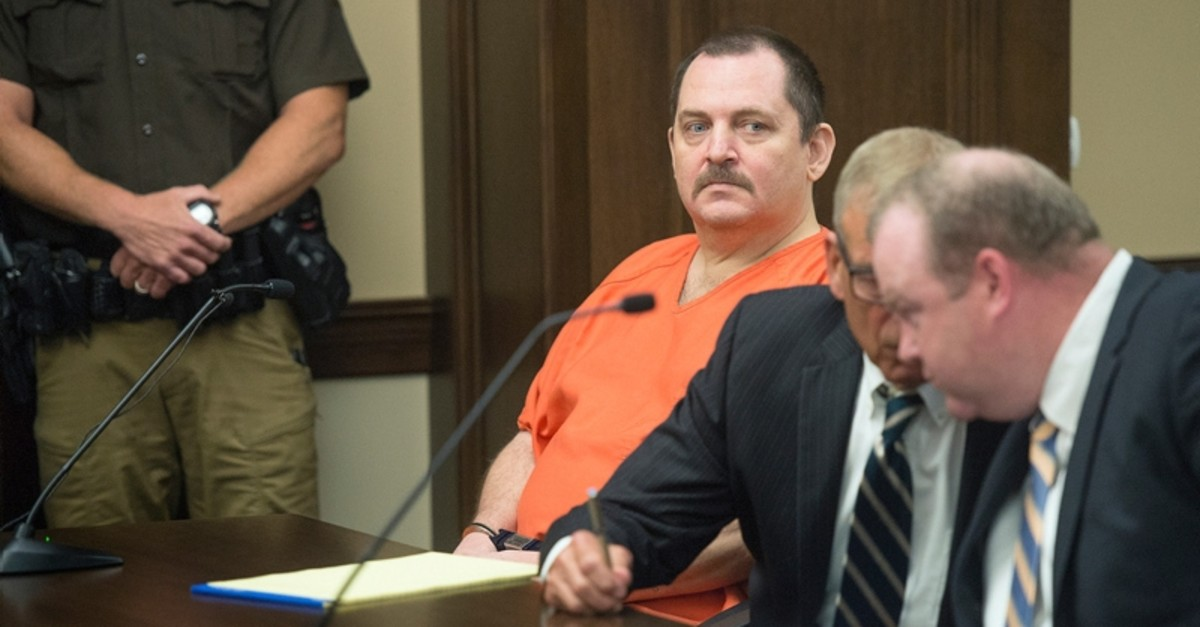 In this June 19, 2018 file photo, Aubrey Trail, left, looks on during a hearing in Saline County Court, in Wilbur, Neb.(AP Photo)