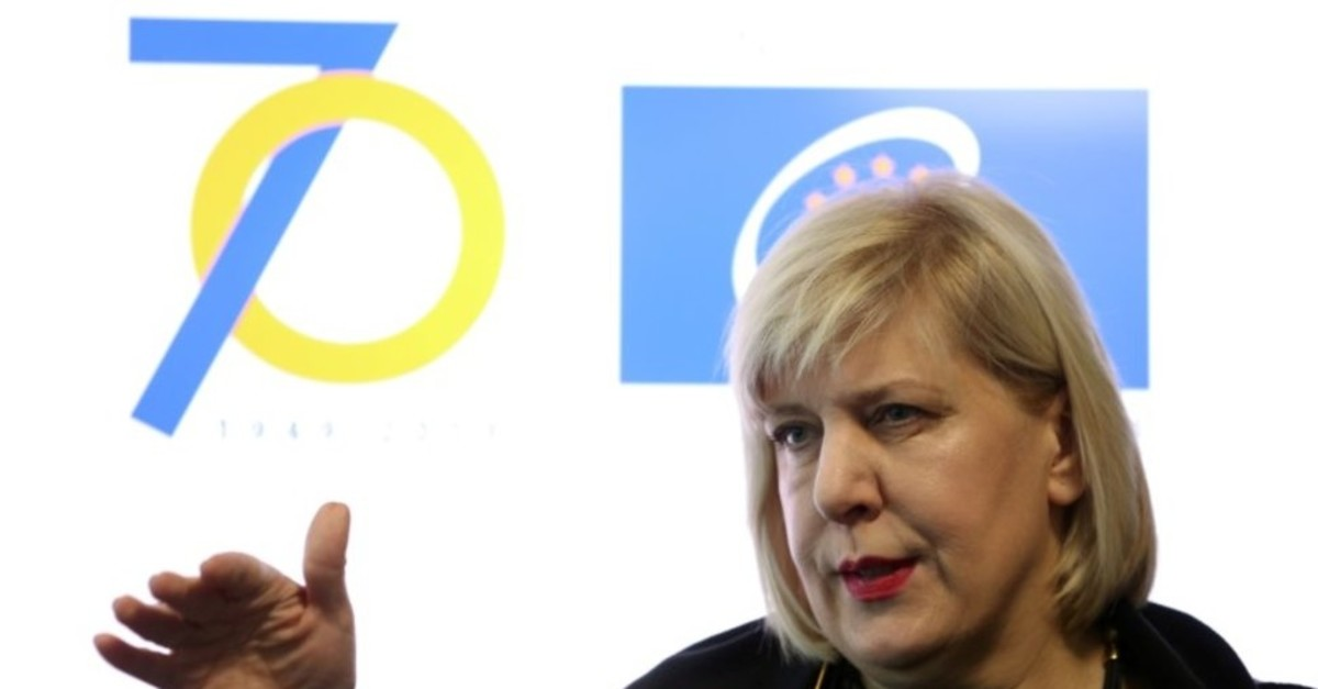 Council of Europe Commissioner for Human Rights Dunja Mijatovic holds a press conference in Sarajevo, Bosnia and Herzegovina, December 6, 2019. (Reuters Photo)