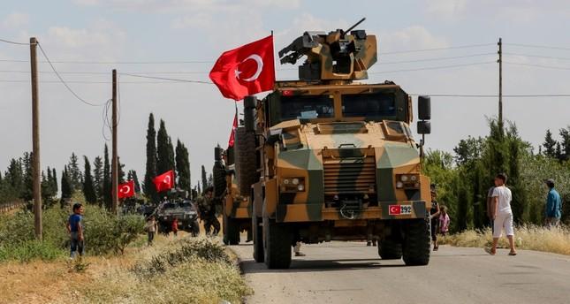 قوات تركية وأمريكية تجري دورية في منطقة منبج السورية