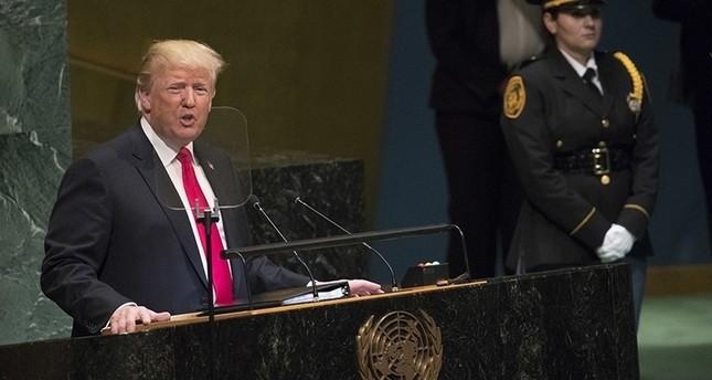 ترامب خلال كلمته أمام الجمعية العامة للأمم المتحدة 25 سبتمبر 2018 (أسوشيتد برس)