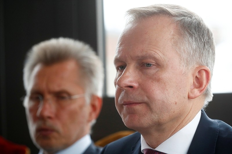 Latvia's central bank governor Ilmars Rimsevics listens during a news conference in Riga, Latvia February 20, 2018. (Reuters Photo)