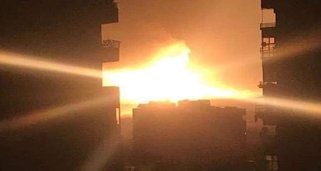 أحد الانفجارات في مطار المزة التقطته عدسات السكان المحليين