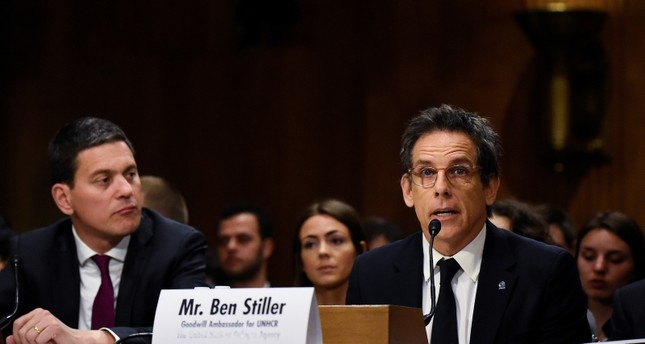 Actor and UNHCR Goodwill Ambassador Ben Stiller testify before the Senate Foreign Relations Committee at a hearing titled in Washington, D.C., U.S., May 1, 2019. Reuters Photo