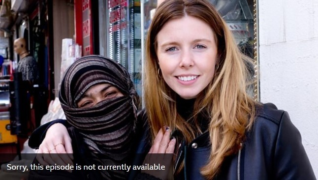 Screenshot taken from BBC's website shows cover image for ,Sex in Strange Places, series' ,Turkey, episode, showing presenter Stacey Dooley with the woman whom the episode claims is a Syrian refugee.