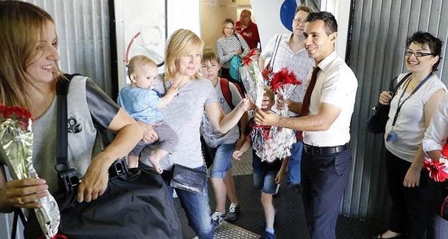 ارتفاع ملحوظ في عدد السياح الروس القادمين لتركيا