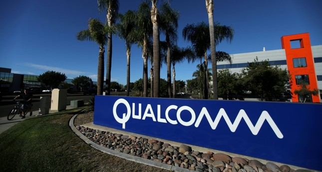 A sign on the Qualcomm campus, San Diego, California.