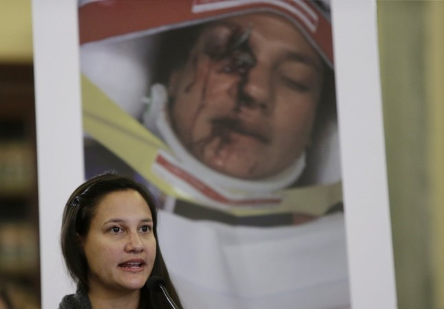 U.S. Air Force First Lt. Stephanie Erdman suffered a serious eye injury (rear photo) when the Takata airbag in her 2000 Honda Civic deployed and sent shrapnel flying. She testified before the Senate in 2014.